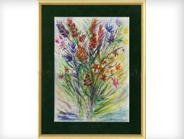 Цветы нарисованные поэтапно фото